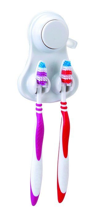 Showerdrape Polar collection toothbrush holder - a unique and space-saving alternative to a traditional toothbrush holder - makes sure you buy crazy coloured toothbrushes too!