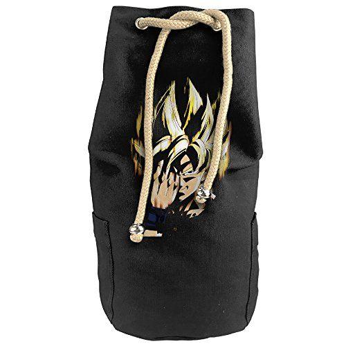 Cool Animated Dragon Ball Head Portrait Super God Drawstrings Gym Backpack Bag