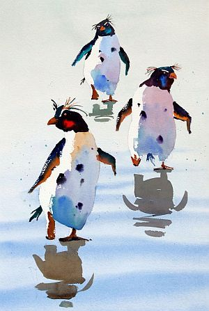 Penguins - Jake Winkle          ~Watercolors