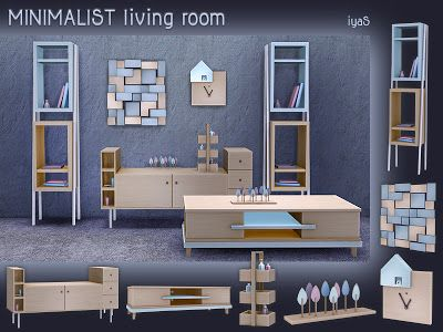 The Sims 4 Mody: Minimalistyczny salon od Soloriya