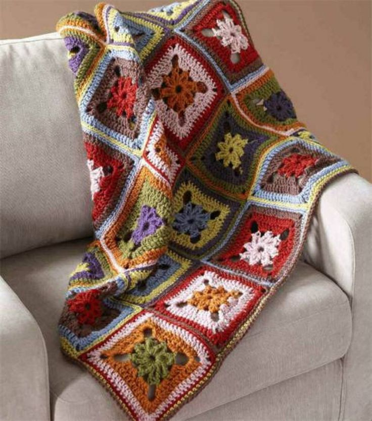 Vannas Choice 8-Color Afghan By Lion Brand - Free Crochet Pattern ...