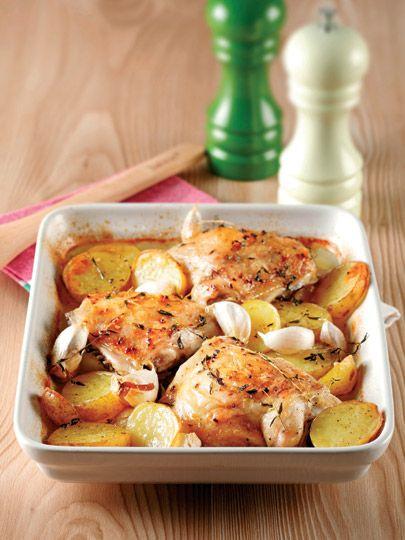 Fırında sarımsaklı tavuk Tarifi - Türk Mutfağı Yemekleri - Yemek Tarifleri