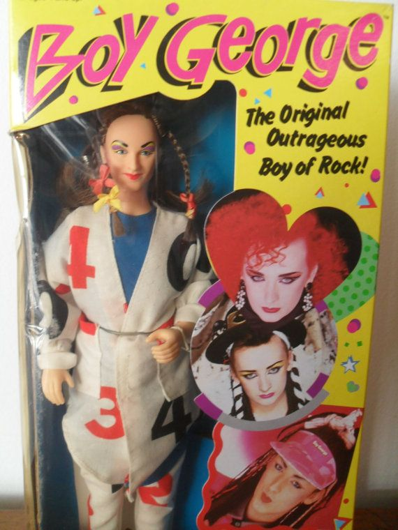 Vintage Boy George Doll 80's Toy Celebrity Pop Rock & Roll Star Music Singer…