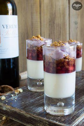 Mousse de Queso Manchego, Fresas y Espuma de Vino Tinto