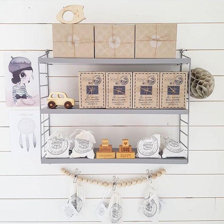 Wooden Story shelf via @mininook.se ♡