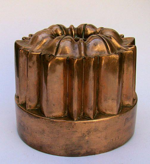 Antique copper mold.