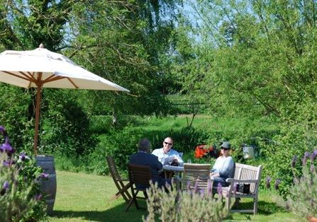 Leisurely wine-tasting in from of the old farmhouse at Oatley Vineyard. International-award-winning, crisp, white wines.