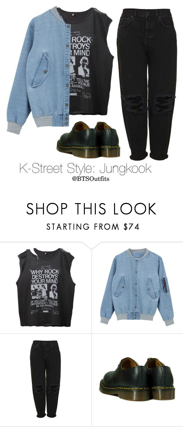 K-Street Style: Jungkook by btsoutfits on Polyvore featuring R13, Boutique and Dr. Martens