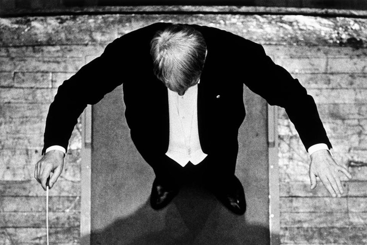Constantine Manos USA. Boston, Massachusetts. 1958. Charles MUNCH conducting the Boston Symphony Orchestra. via Dmitry Polgar.