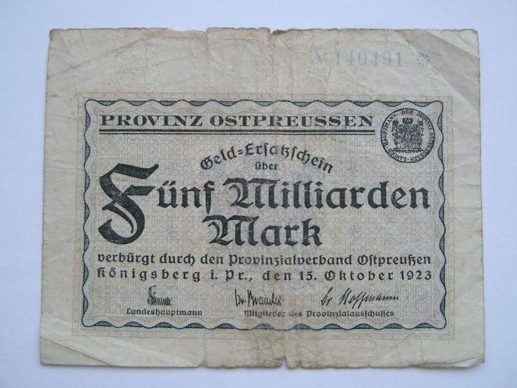 Königsberg i.Pr. 5 Milliarden  15.10.1923