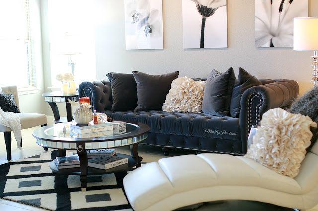 Gray White Amp Black Living Room Home Decor Pinterest