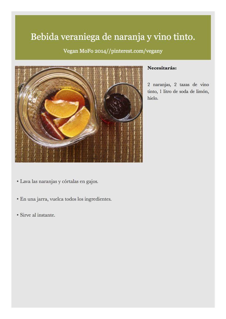 Día 20 del VeganMoFo: Bebida veraniega de naranja y vino tinto.