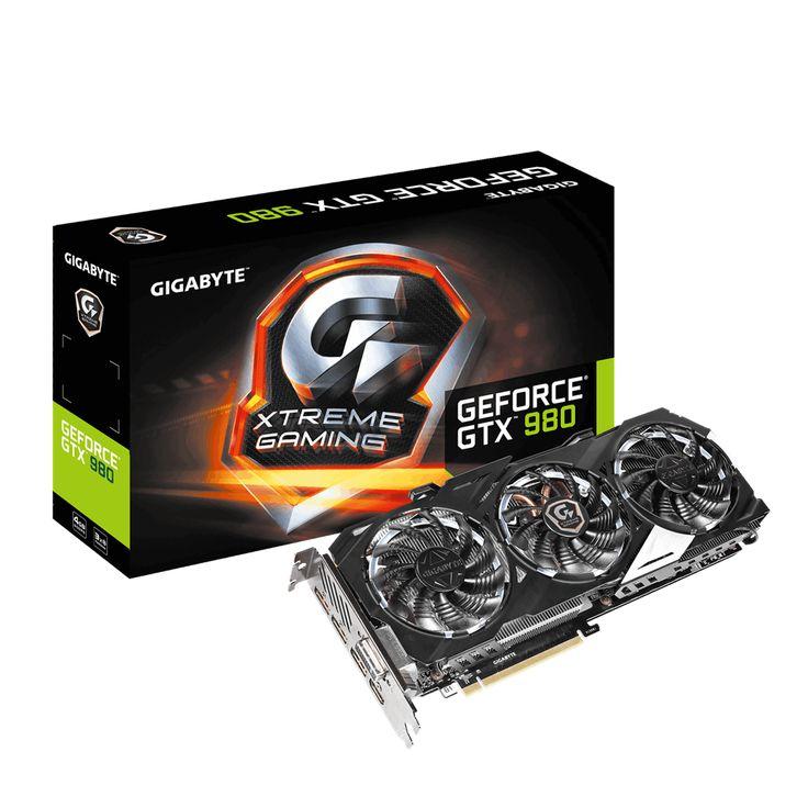 GIGABYTE NVIDIA GTX 980 EXTREME 4096MB GRAPHICS CARD - GV-N980XTREME-4GD