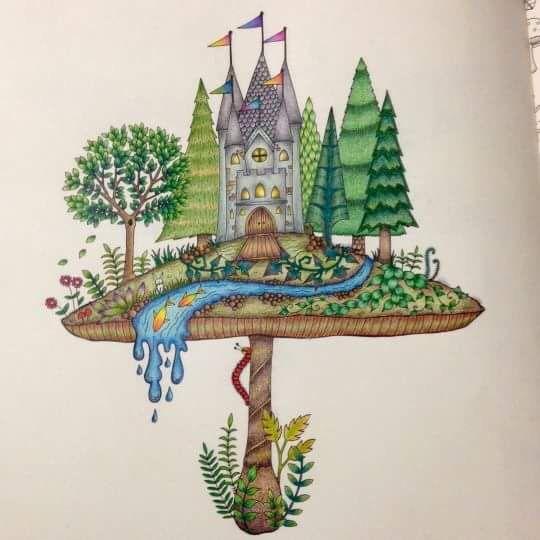 17 Best Images About Johanna Basford Mushroom Castle