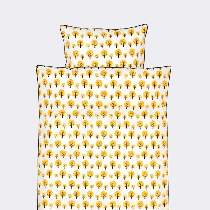 Dotty Yellow Toddler Duvet Set