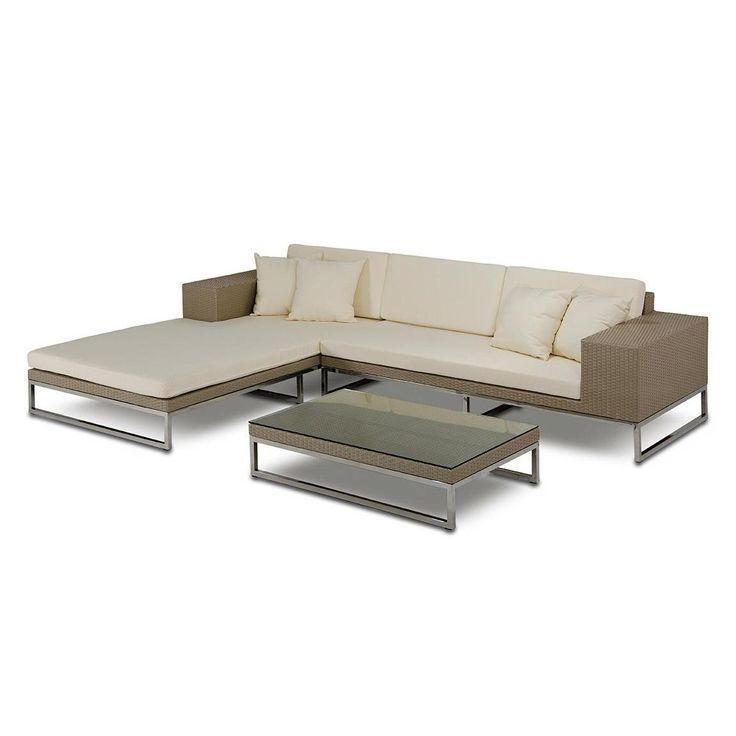 Vig Furniture VGMNRM7256 Limba Patio Sectional Sofa Set | ATG Stores