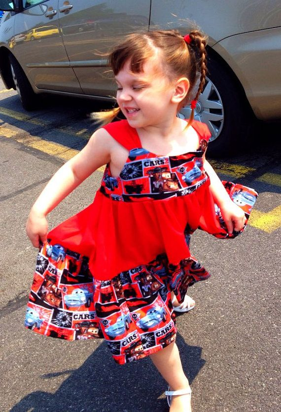 Disney's Cars 2 Dress by myfunclothes on Etsy, $26.00