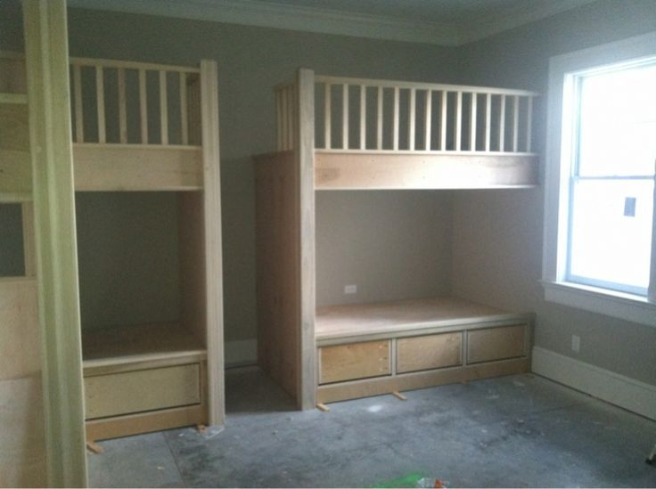 Built In Twin Beds Built In Bunk Beds Woodworking