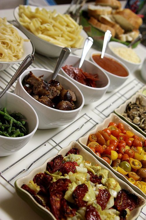 A Pasta Bar! What a great party idea!