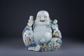 Republic Chinese Famille Rose Porcelain Buddha