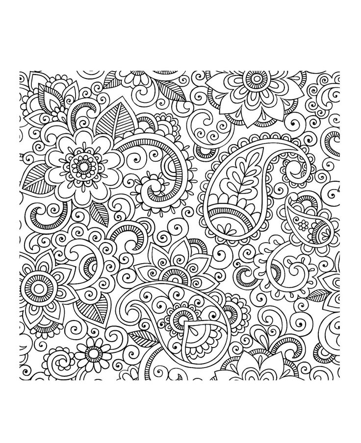 Free coloring page coloring-adult-paisley-iran. Flowers with pretty petals mixed with paisley patterns : a beautiful coloring page that will immerse you in the land of 1001 nights