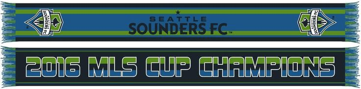 SEATTLE SOUNDERS 2016 MLS CUP CHAMPIONS SCARF - Bold **Pre-order**