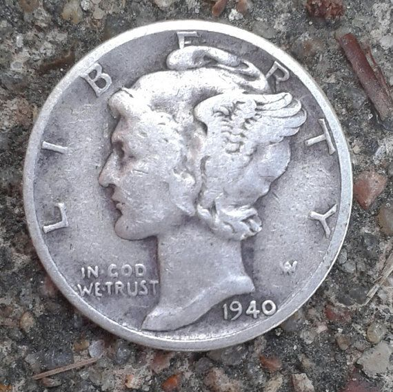 Vintage 1940's WWII Mercury Dimes Silver Coins by TheIDconnection, $30.00