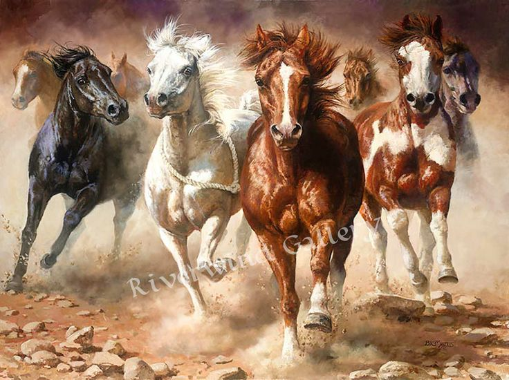 """Bonnie Marris-The Power of Freedom- LIMITED EDITION Giclee CANVAS Image size: 24""""w x 18""""h.  Edition Size: 75"""