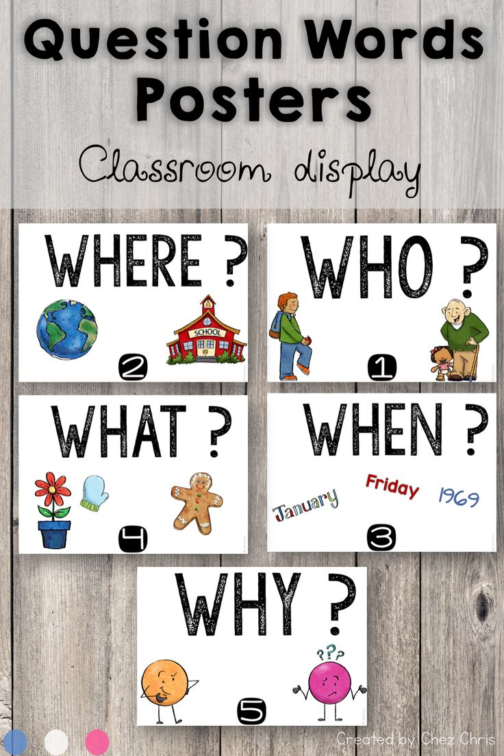 Question Words Posters | Teaching Ideas and Resources ...