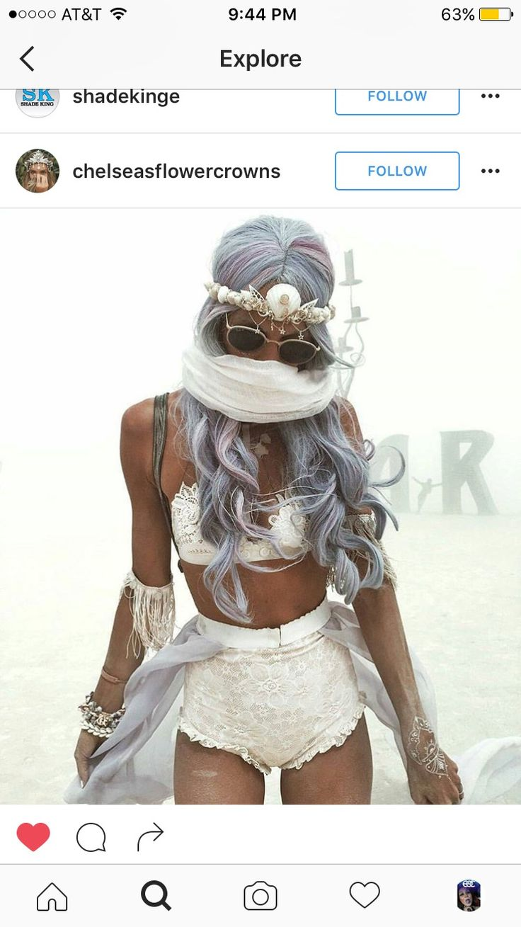 White festival look #mermaid #crown