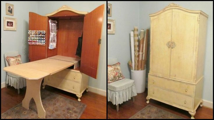 DIY   Armoire Sewing Cabinet - Cottage Hill √√√