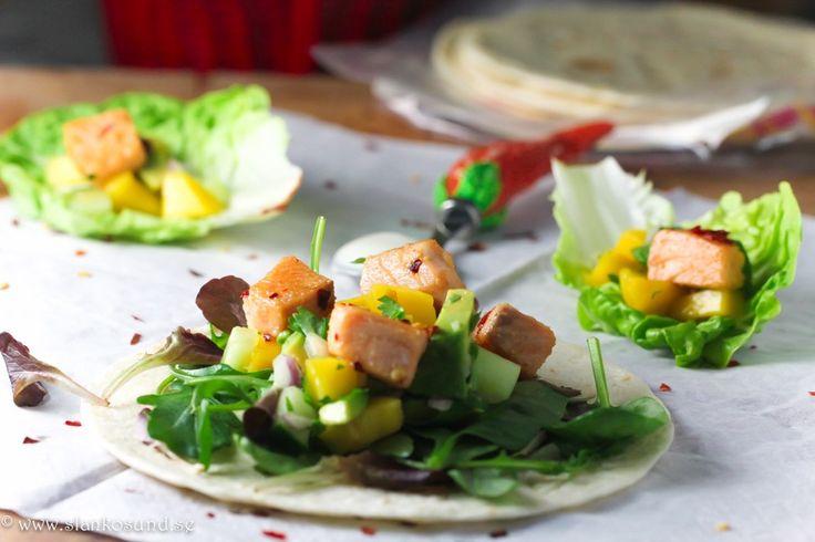 Laxtacos Med Mango Och Avokadosallad #laxtacos,#mango #avokadosallad #lax #tacos #texmex #slankosund #recept #viktväktarrecept #recette #recept #recipe