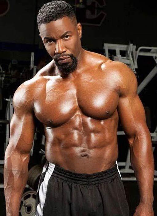 Michael Jai White shirtless body...