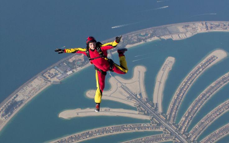 Sky Dive over Dubai Islands, UAE Aerial Views | Rough Guides