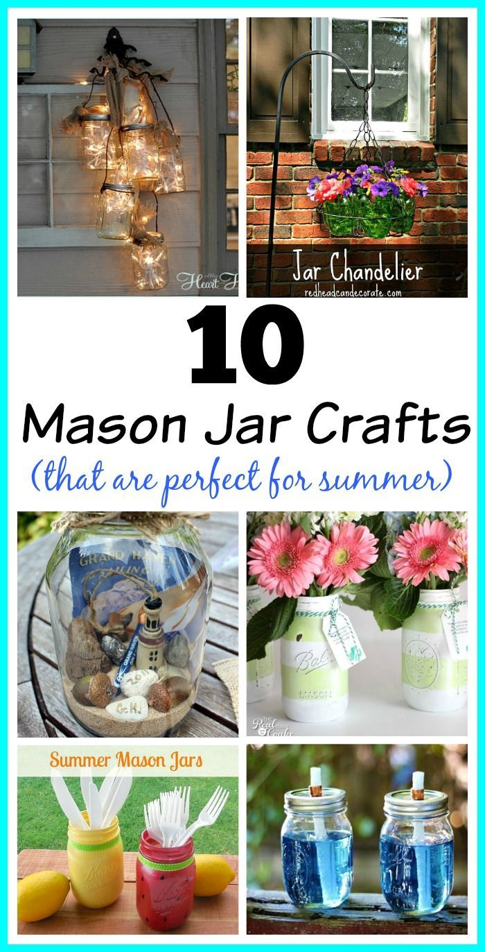 10 Easy Mason Jar Crafts that are perfect for summer!
