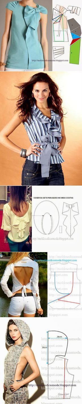Блузы +выкройка(2 часть).
