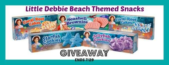 A CASE of Little Debbie Beach Themed Snacks Giveaway!