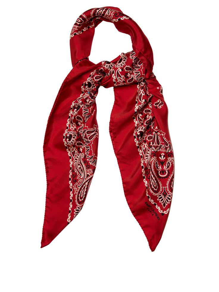 Bandana-print silk-twill scarf | Saint Laurent | MATCHESFASHION.COM US