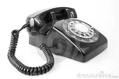 Black Old phone