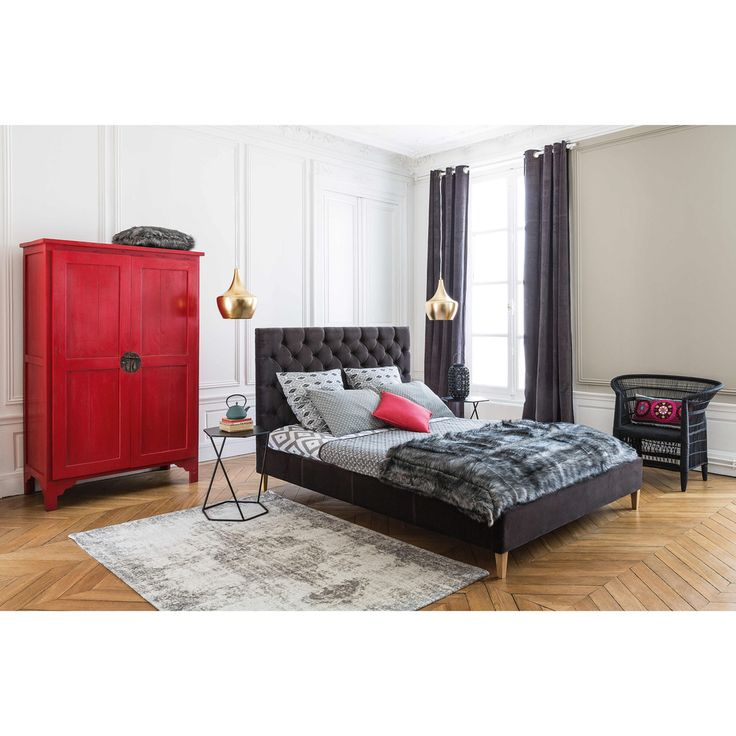 les 25 meilleures id es de la cat gorie lit capitonn sur pinterest chambre coucher avec lit. Black Bedroom Furniture Sets. Home Design Ideas
