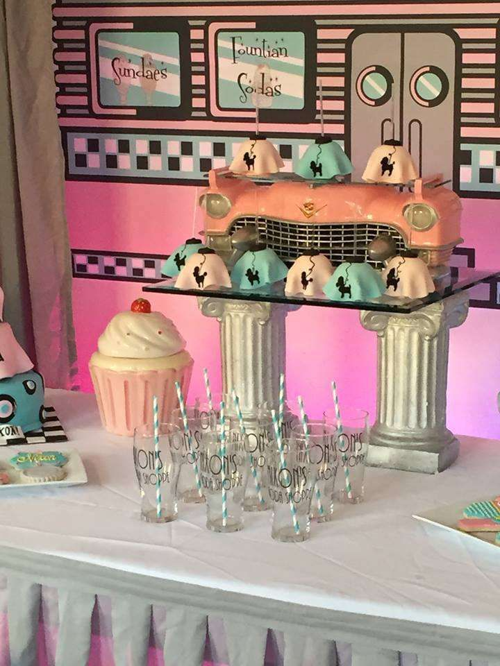 Retro Soda Shoppe birthday party! See more party ideas at CatchMyParty.com!