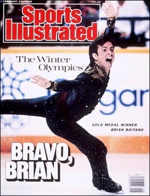 Sports Illustrated Cover, February 1988.  Brian Boitano wins Gold in Calgary.