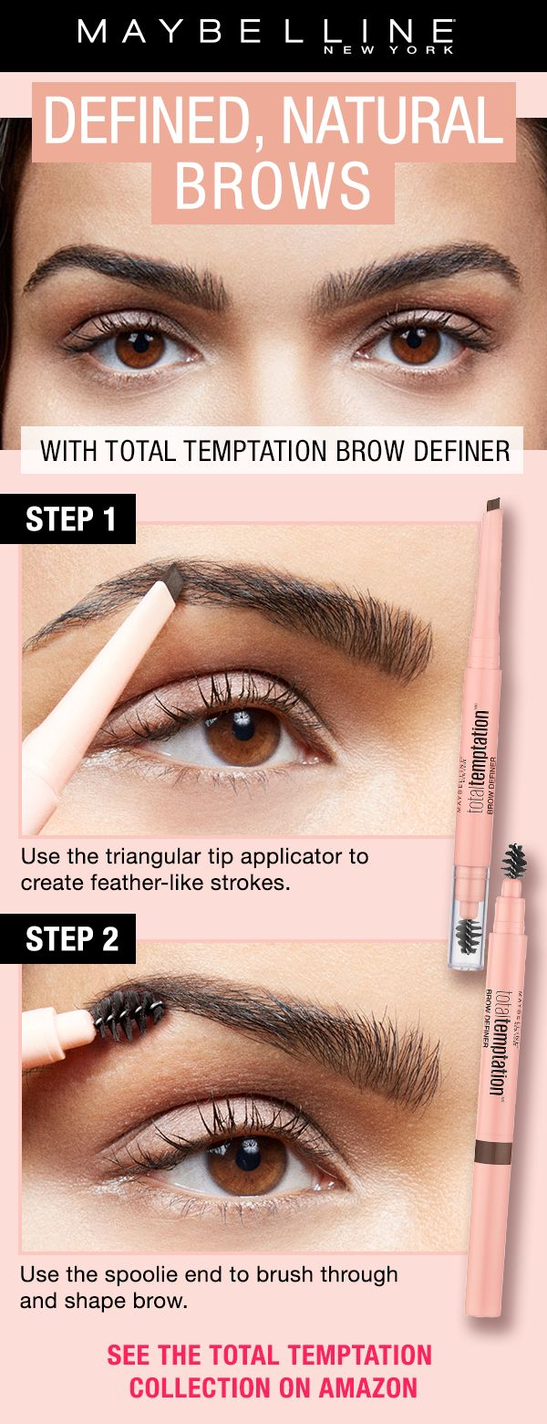 Get defined, natural brows with NEW Total Temptation Brow Definer, from our Total Temptation collection. This collection features an eye and cheek palette, brow definer, and mascara for dense, soft lashes. Click through to shop Total Temptation Mascara and the collection on Amazon!