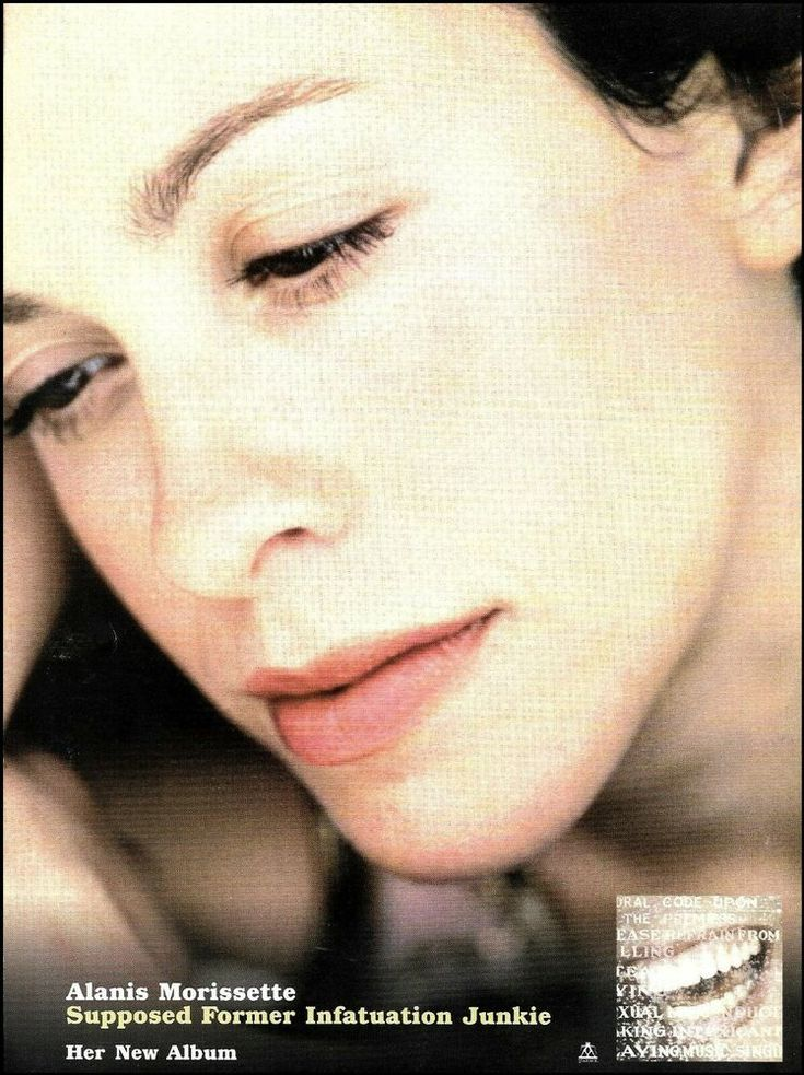 Alanis Morissette Supposed Former Infatuation Junkie 1998 Advertisement Ad Print In 2020 Alanis Morissette Infatuation Junkie