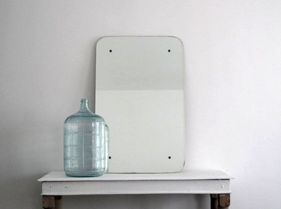 Large Frameless Mirror  #Antique Wall #Mirror  by SnapshotVintage, $480.00