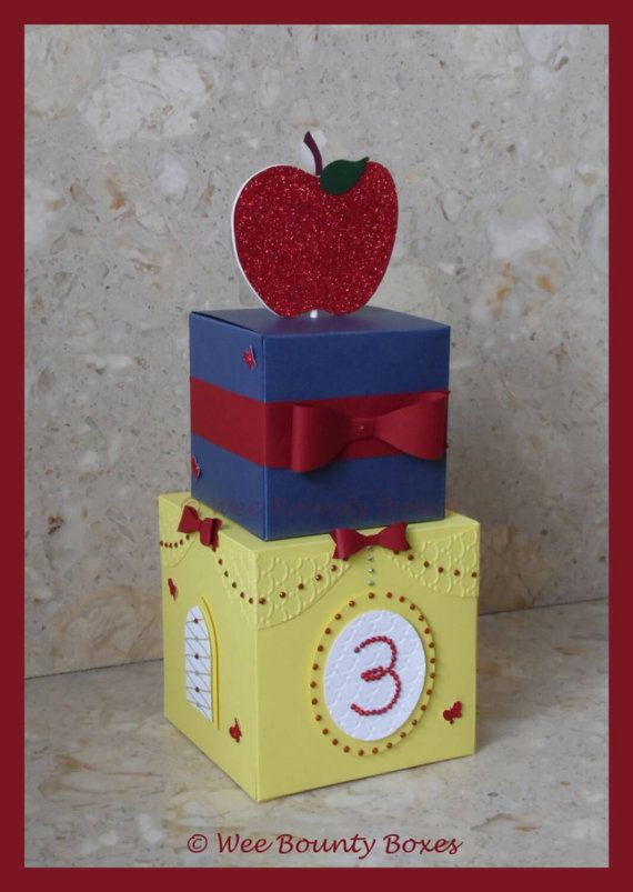 Snow White Inspired Castle Centrepieces for a Snow White Birthday Party