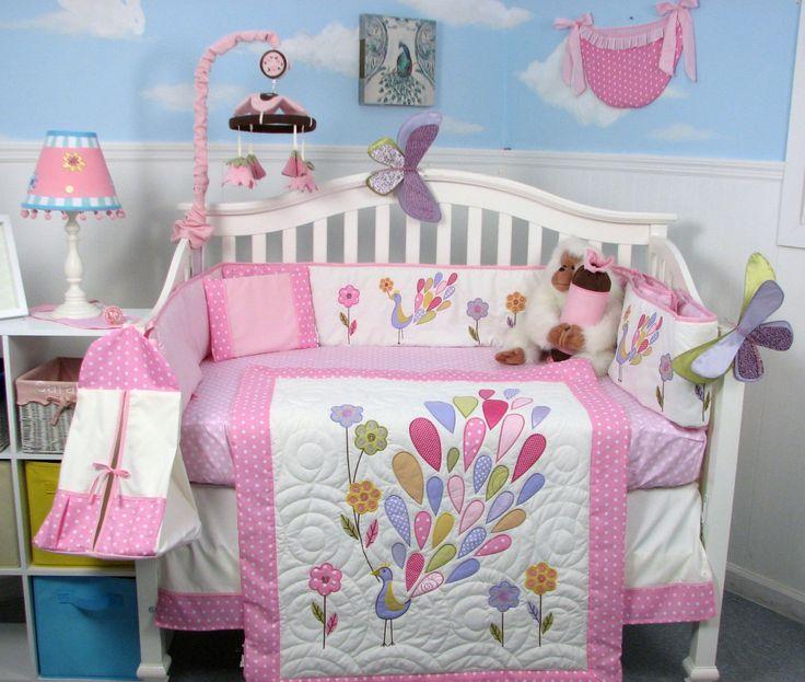 Amazon SOHO Gloria The Peacock Crib Nursery Bedding Set 14 Pcs