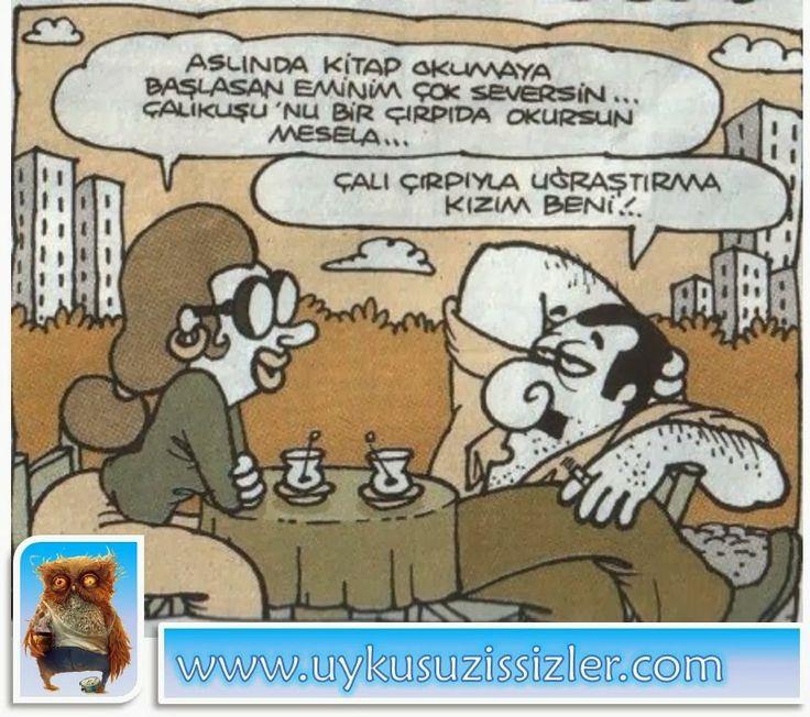 Karikatür: Çaliyla çirpiyla uğraştirma kizim beni!..