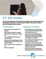 Fact sheet on the dangers of TV tip-overs from Prevent Child Injury  http://www.preventchildinjury.org/resources-3/tv-tip-over-materials/tv-tipovers-fact-sheet.aspx