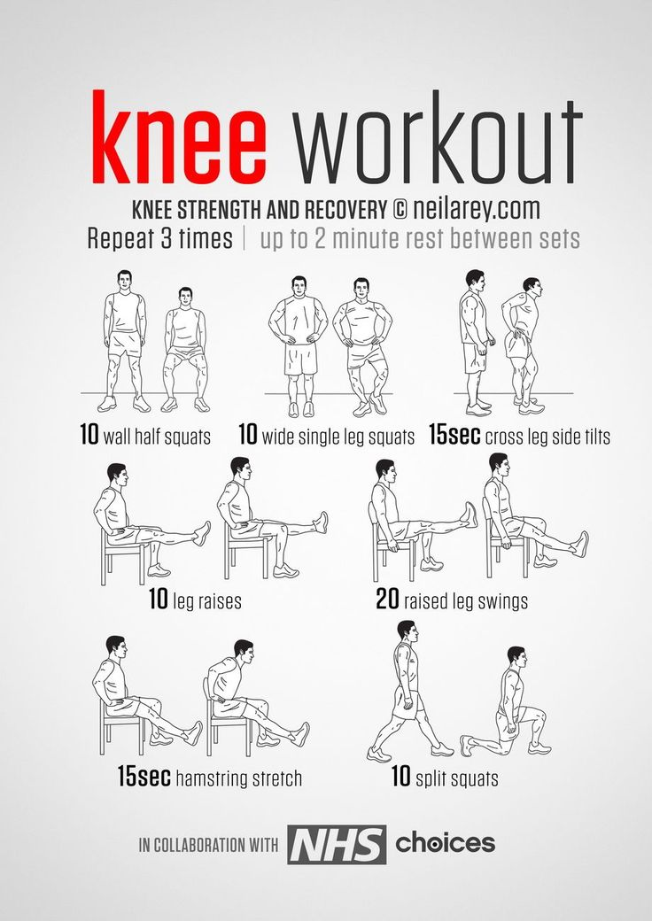 No-equipment knee pain, strength and recovery Workout.
